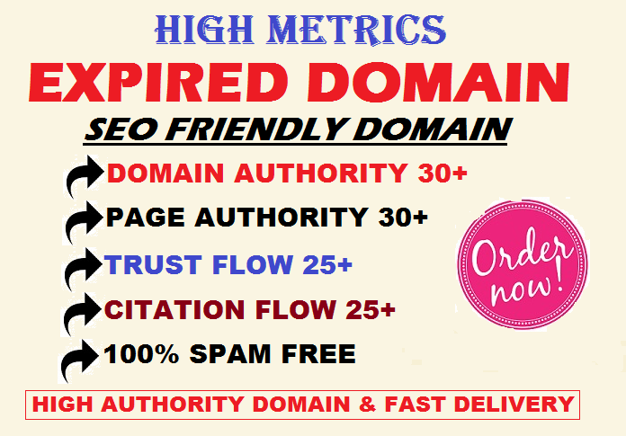 Research High Metrics SEO Friendly Expired Domain