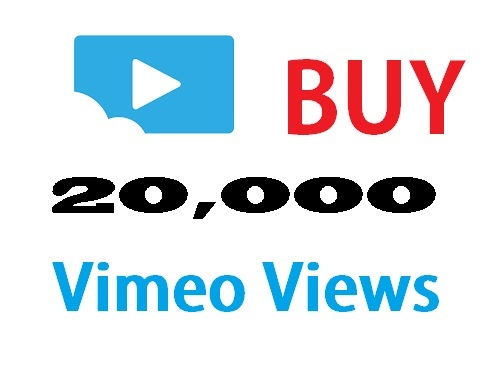20,000 hits to your vimeo video
