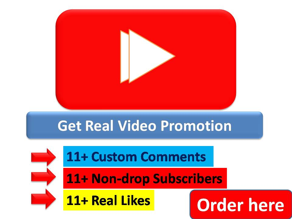 Get 12 Plus Real Video Promotions for your YouTube video with Real Audience