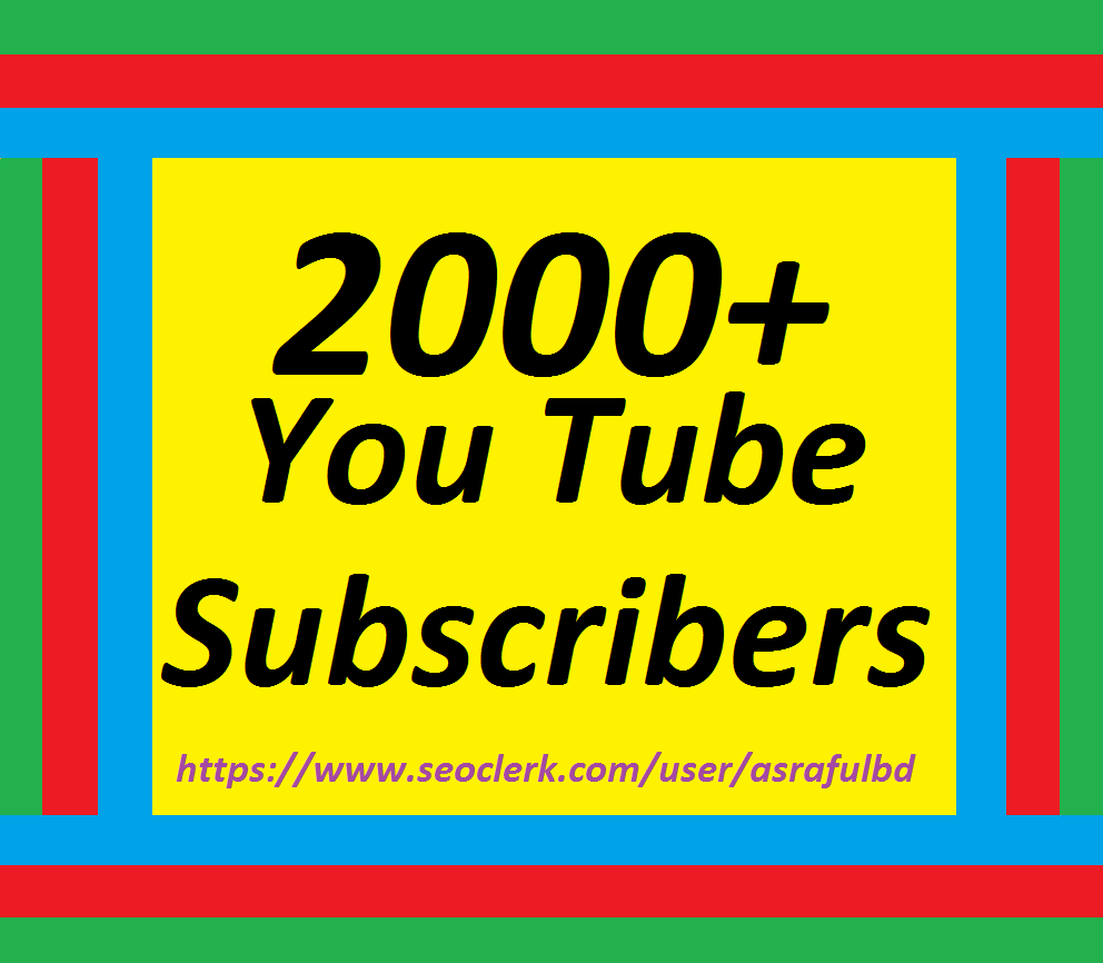 Get 200+Youtube Subscriber Lifetime Guaranteed Super Speed 12/24 hrs