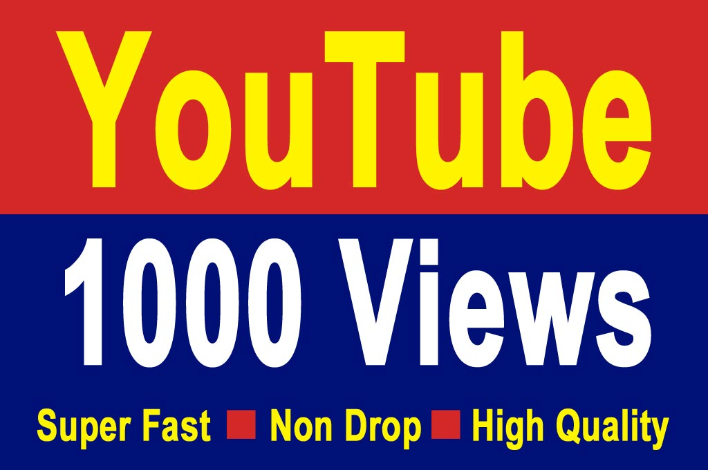 1000-1200 HQ Youtube Video Views 24-36 Hrs Delivery