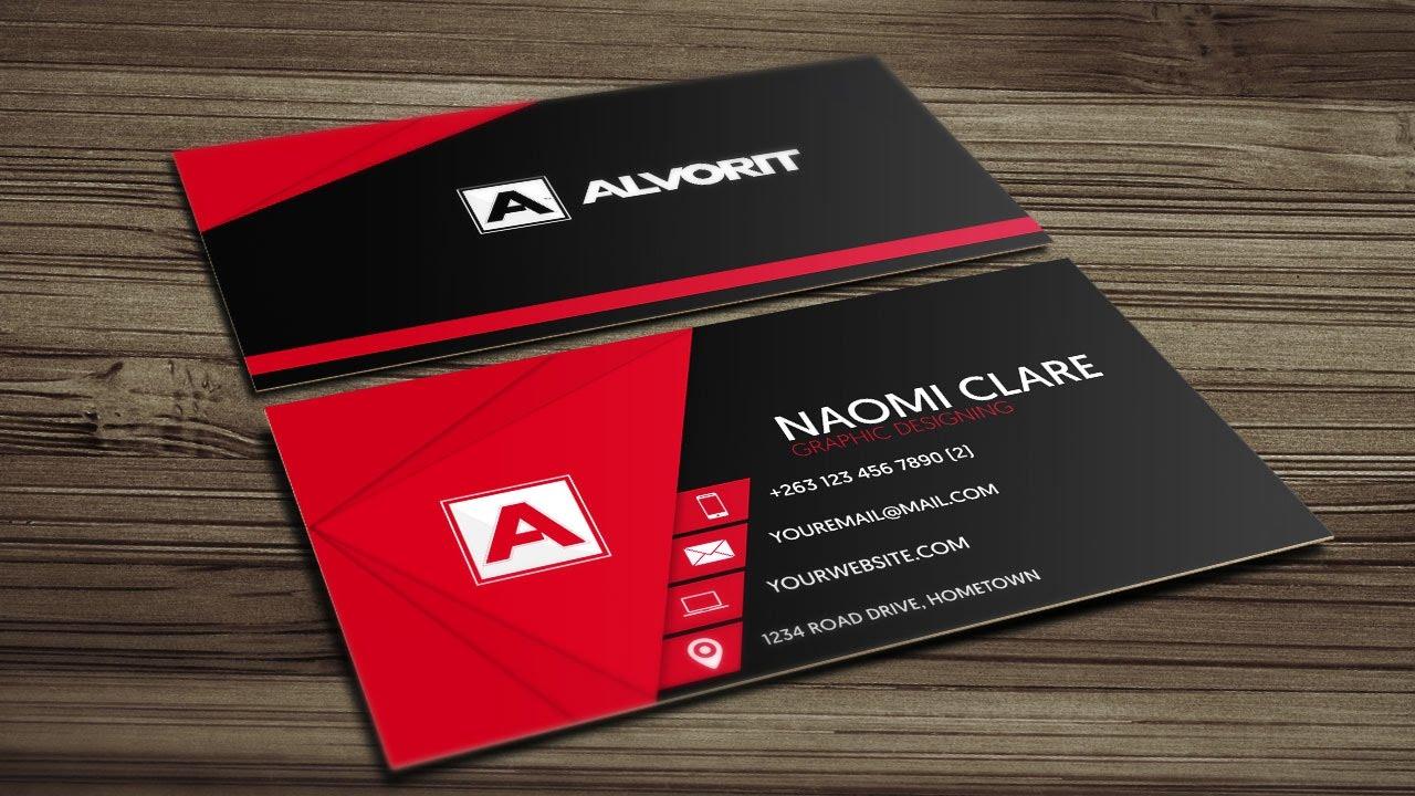 Create 2 Different Modern Business card $