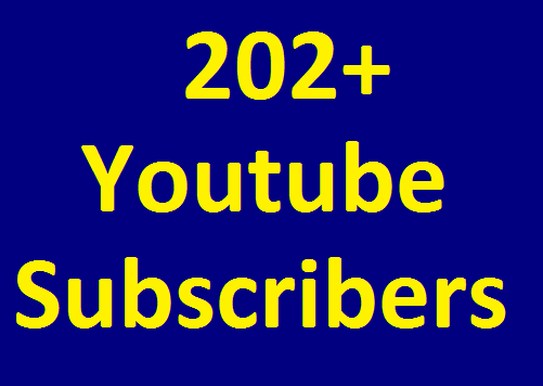 202+ Real YouTube Chanel Subscribers Non Drop Guaranteed in 24-96 hours completed