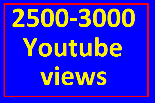 2500 to 3000 High Retention View's Non Drop Refill Guaranteed Very Fast in 12-24 Hours Completed