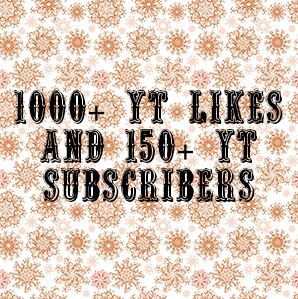 Provide you 1000+ non drop YT likes and 150+ non drop YT subscriber very fast delivery within 12-24 hours.