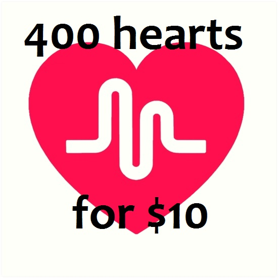 Greatest 400 Hearts Will be Added to Your Musical.ly Videos Just