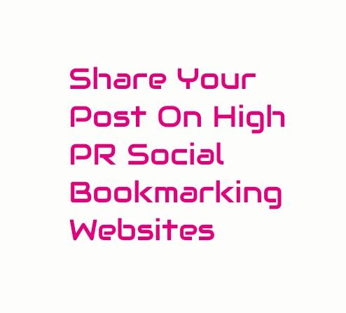 Share your post or website on 90 High PR Social Bookmarking Websites.