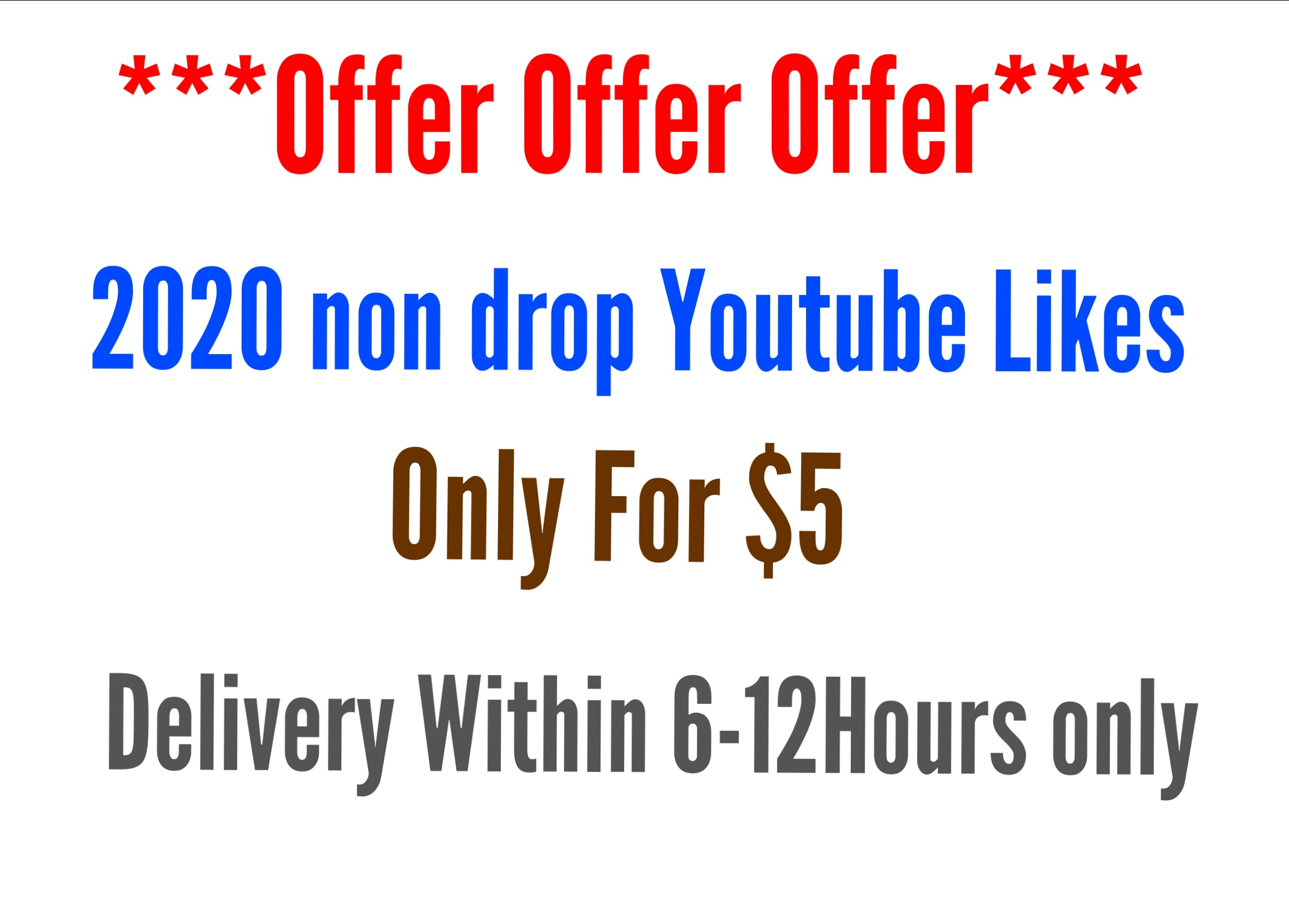 2020 non drop youtube likes super fast delivery within 6-12hours