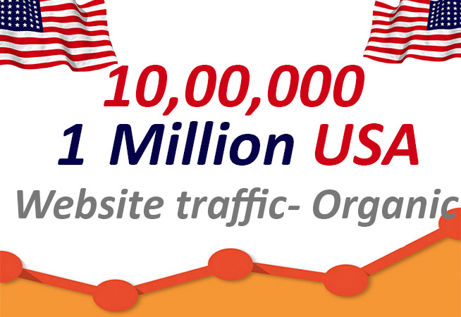 1 million US organic and keyword targeted website traffic,low bounce visitors