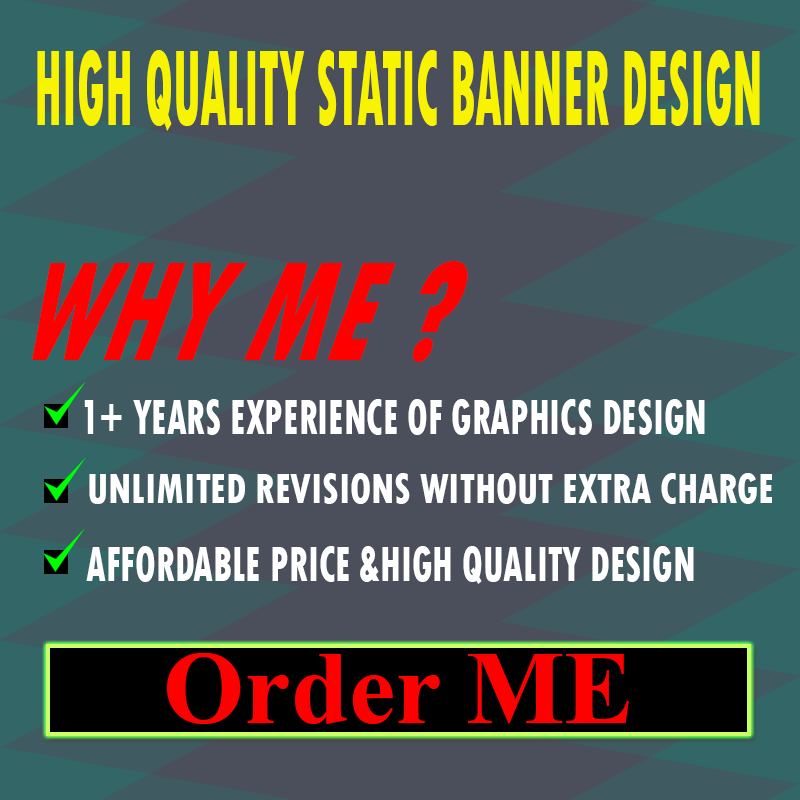 5 Static Banner Design for 5