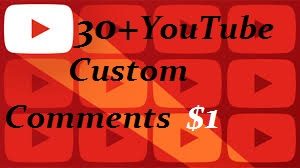 Add 30+YouTube Custom Comments & 30+ Video likes Instant Start & Real Work Just