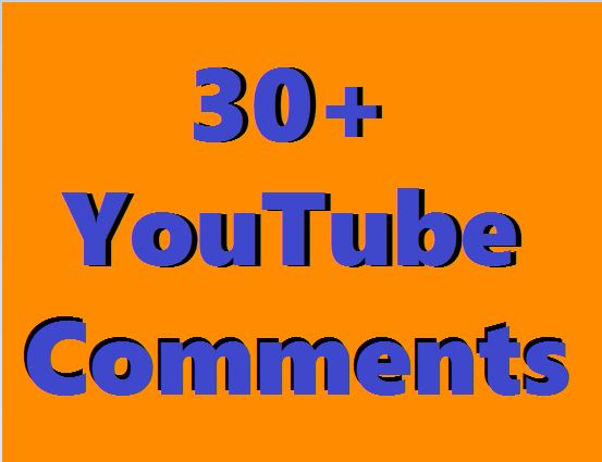 Add 30+You Tube Custom Coments & 30+ Video Instant Start & Real Work Just