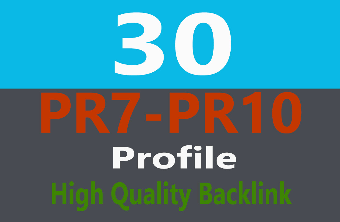 Exclusive Offer 30 HIGH PR  BACKLINK PA,DA 40+
