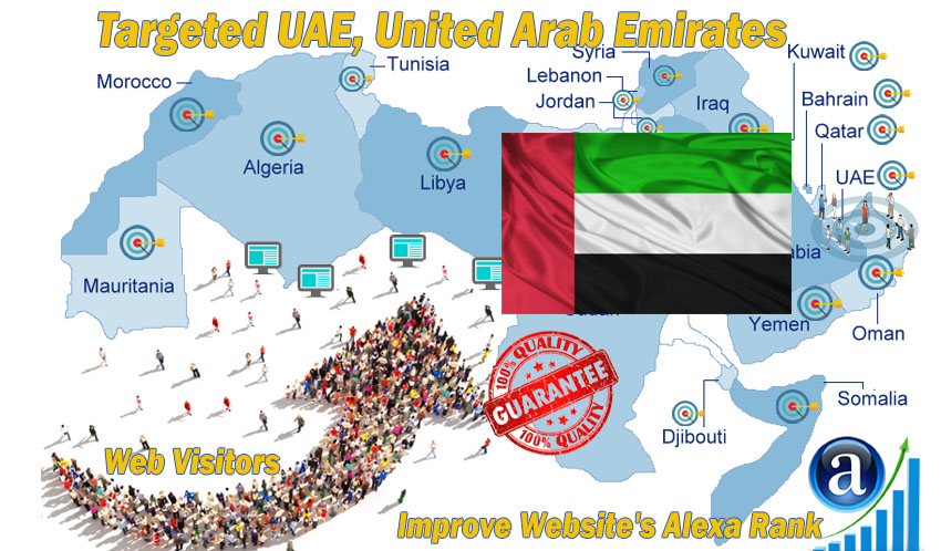 Send 25.000 UAE web visitors real targeted geo traffic