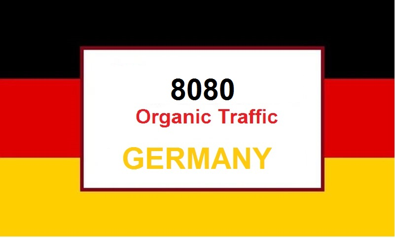 (Special Offer) 8080 Real Organic Traffic from Germany