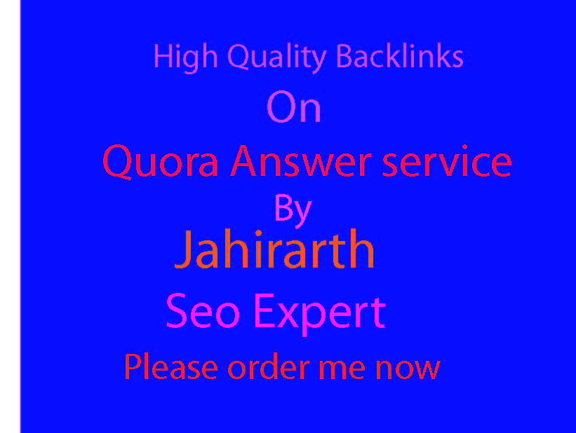 Google top rank your website with 25 High Quality Quora Answer Backlinks