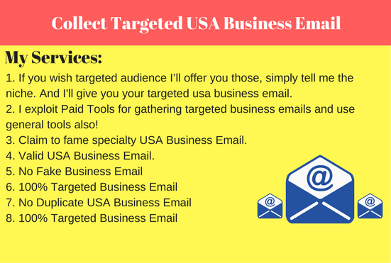 Collect Targeted USA Business Email
