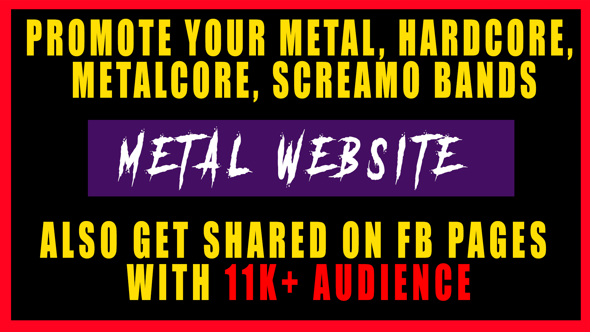Sponsored Post:- Review Your Metal Band In My Website