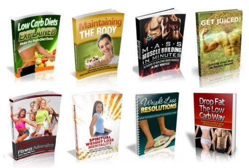 100  Weight Loss & Fitness eBooks on PDF MRR