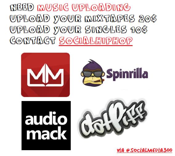 upload your single on datpiff mymixtapez audiomack