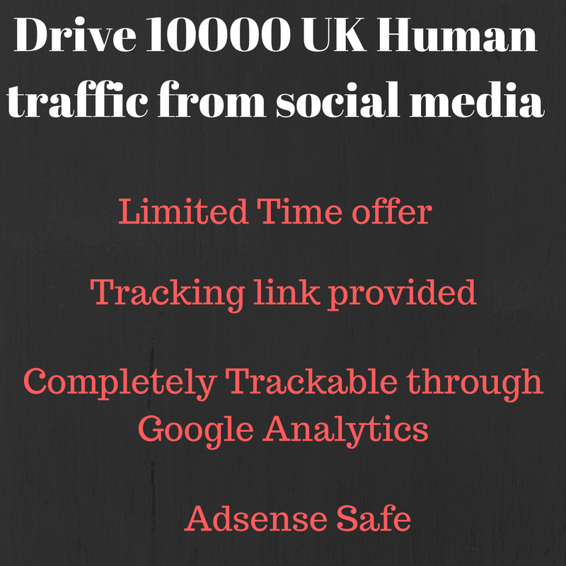 Send 10000+ real human traffic from United Kingdom