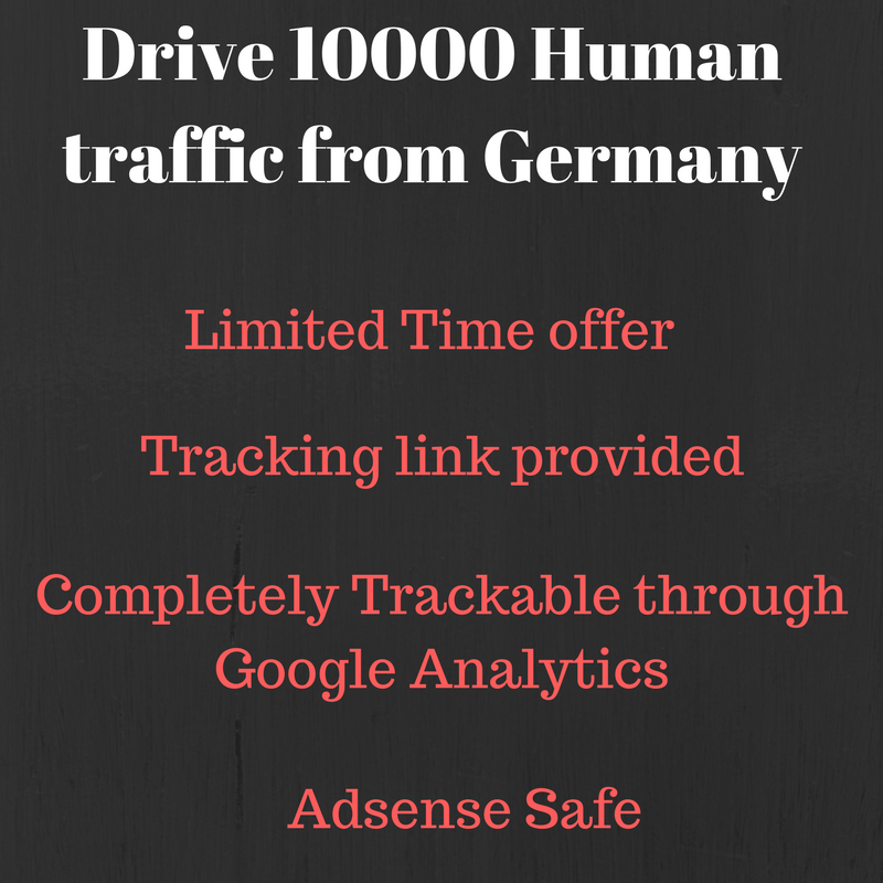 Send 10000+ real human traffic from Germany