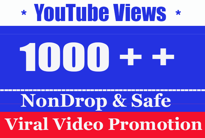 Fast 1000 + 1K Or 1,000 Youtube Video Views fully safe with choice Extra service 2000, 3000, 4000, 5000, 6000, 7000, 8000, 9000 and 10k , 200k 500k YouTube Views