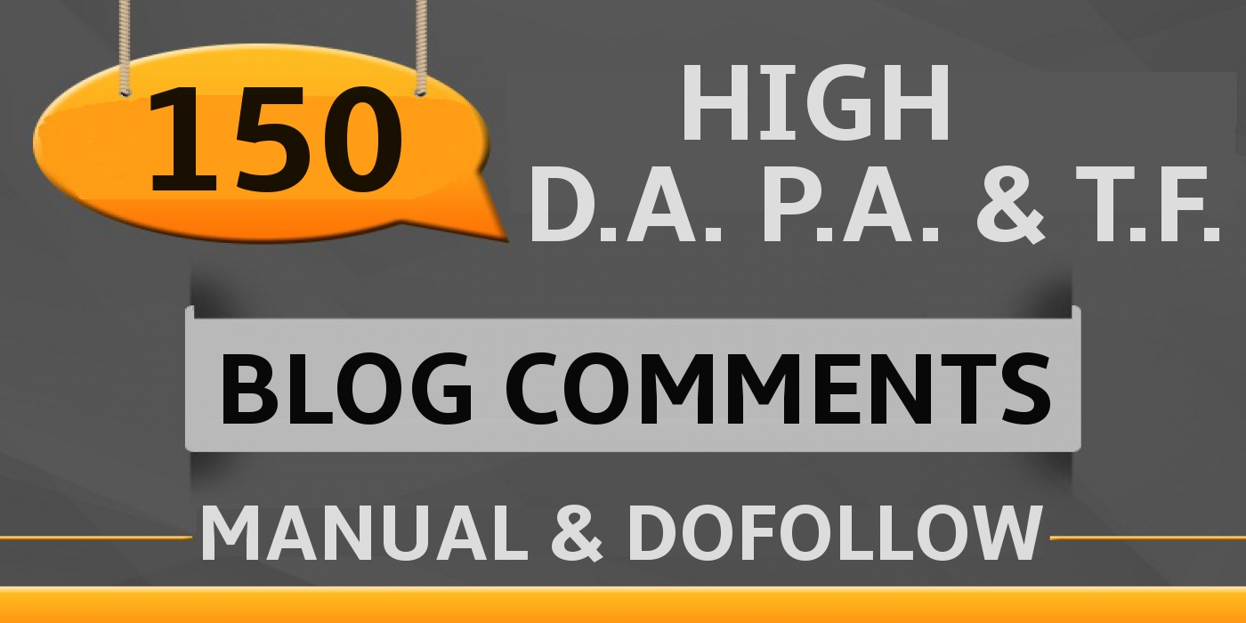 Get 150 blog comments backlinks on actual pages