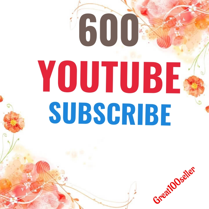 600 YouTube subscribers nondrop  Fast Delivery