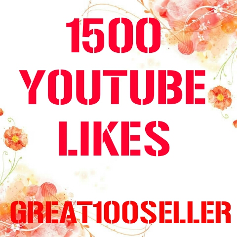 1500 YouTube Likes nondrop  fast delivery