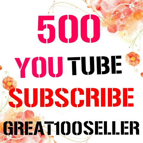 500 REAL Y0U TUBE Subscribers nondrop  Fast Delivery