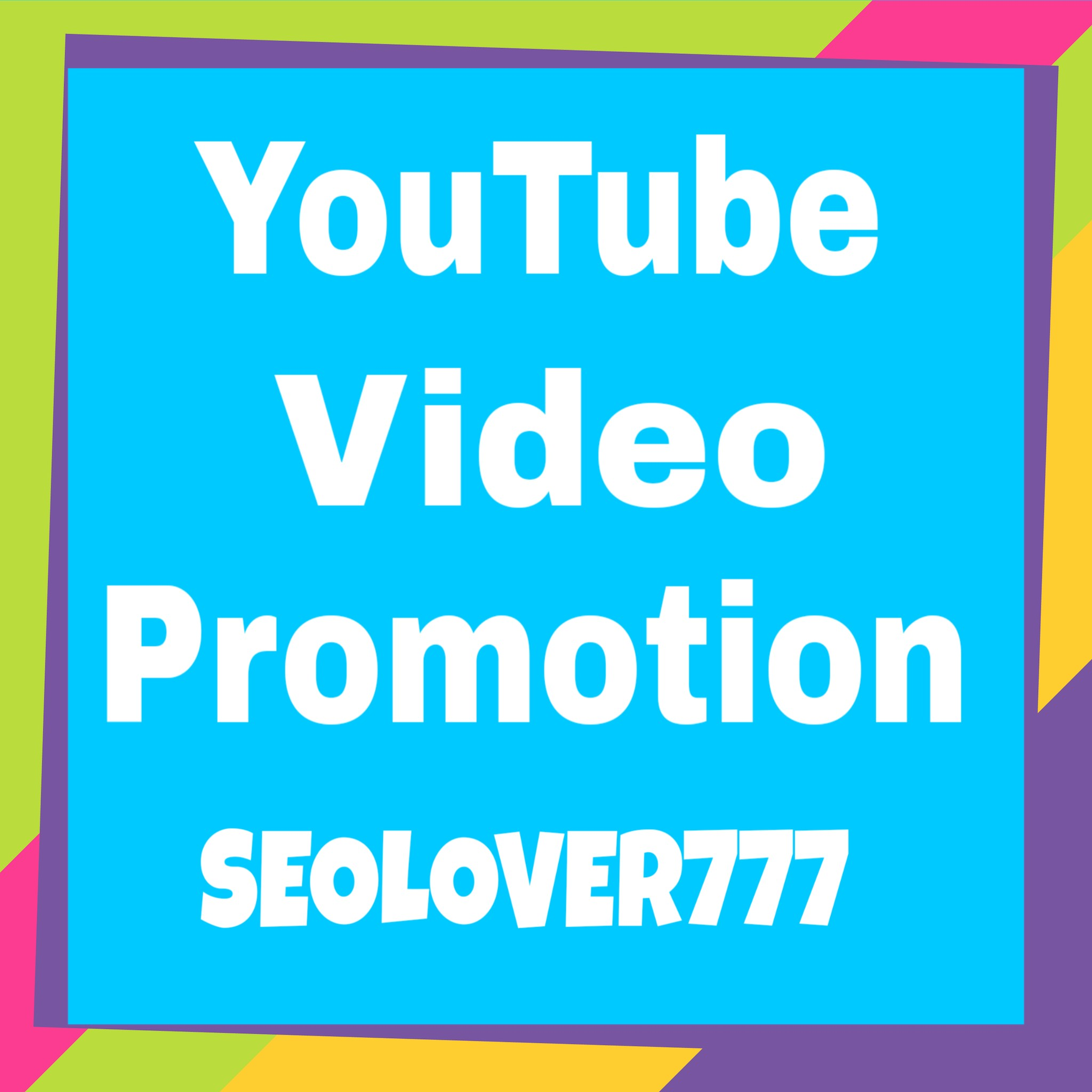 Organic YouTube Video Promotion and Marketing only