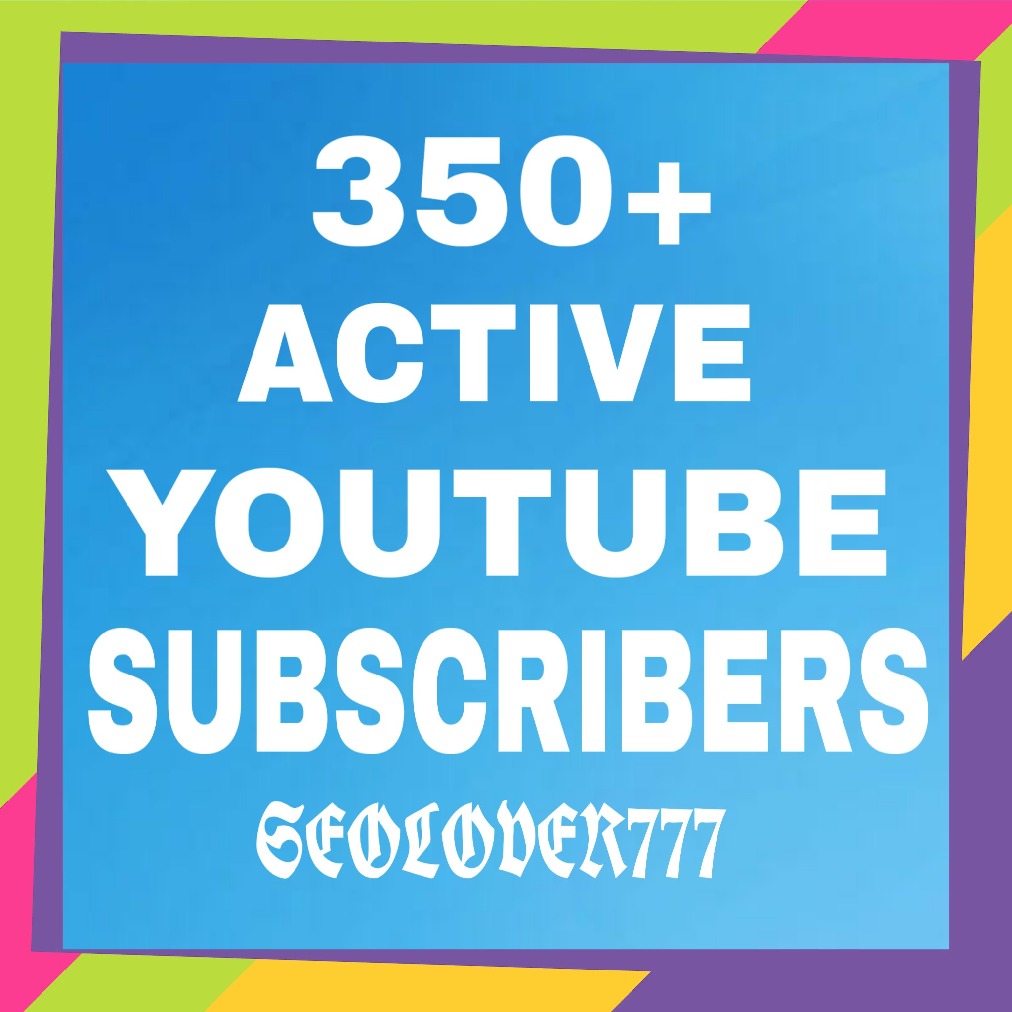 350+ Youtube Sub High Quality Real & Non Drop