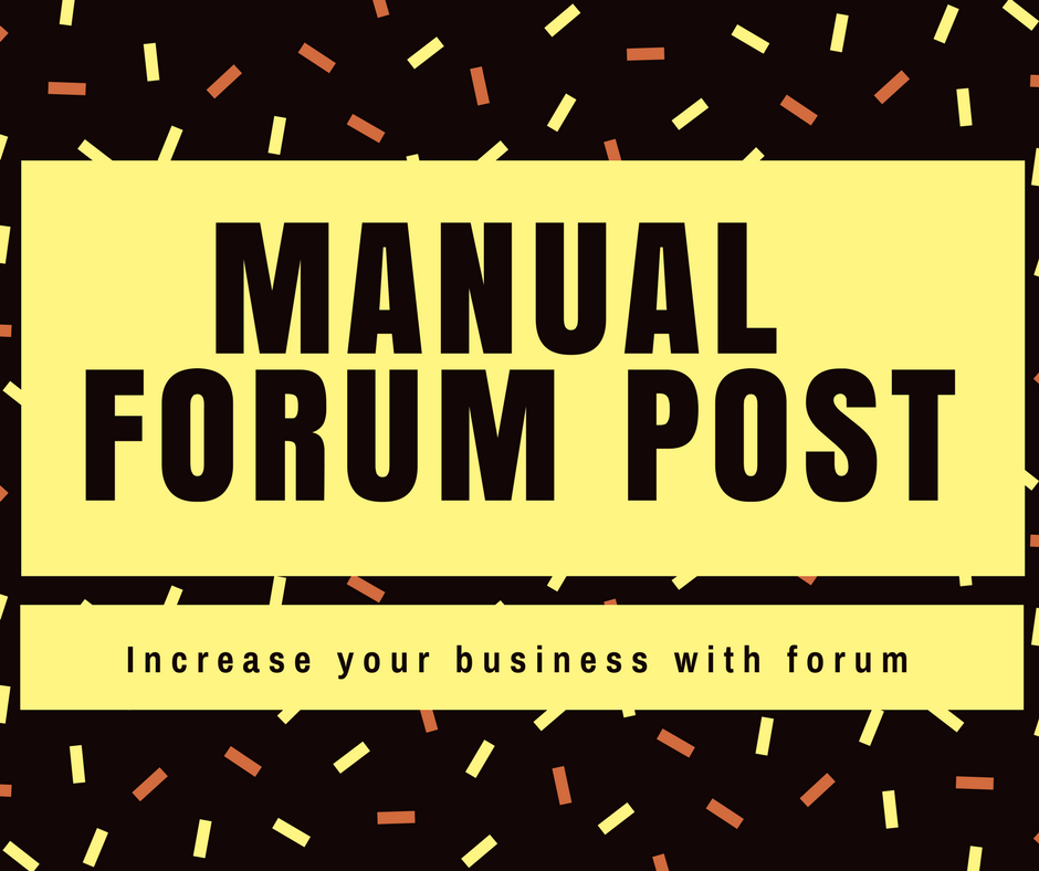 Provide you 30 manual forum post