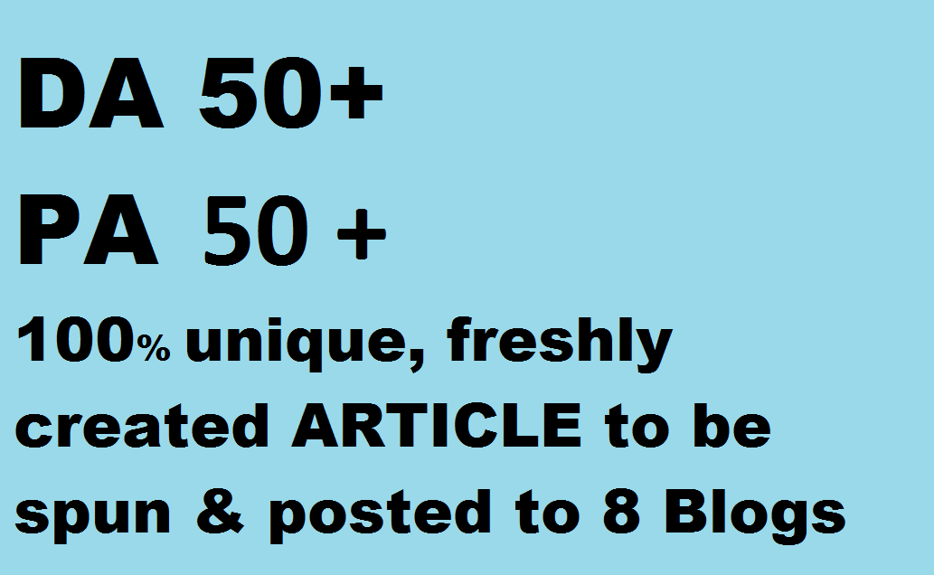 Pbn links, 8 Blog posts on DA 50+, PA 50+ PBN(of web2.0)