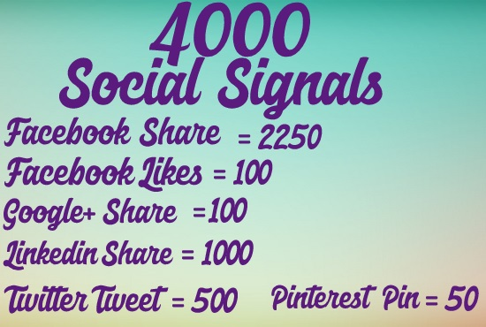 Increase 4000 social signals