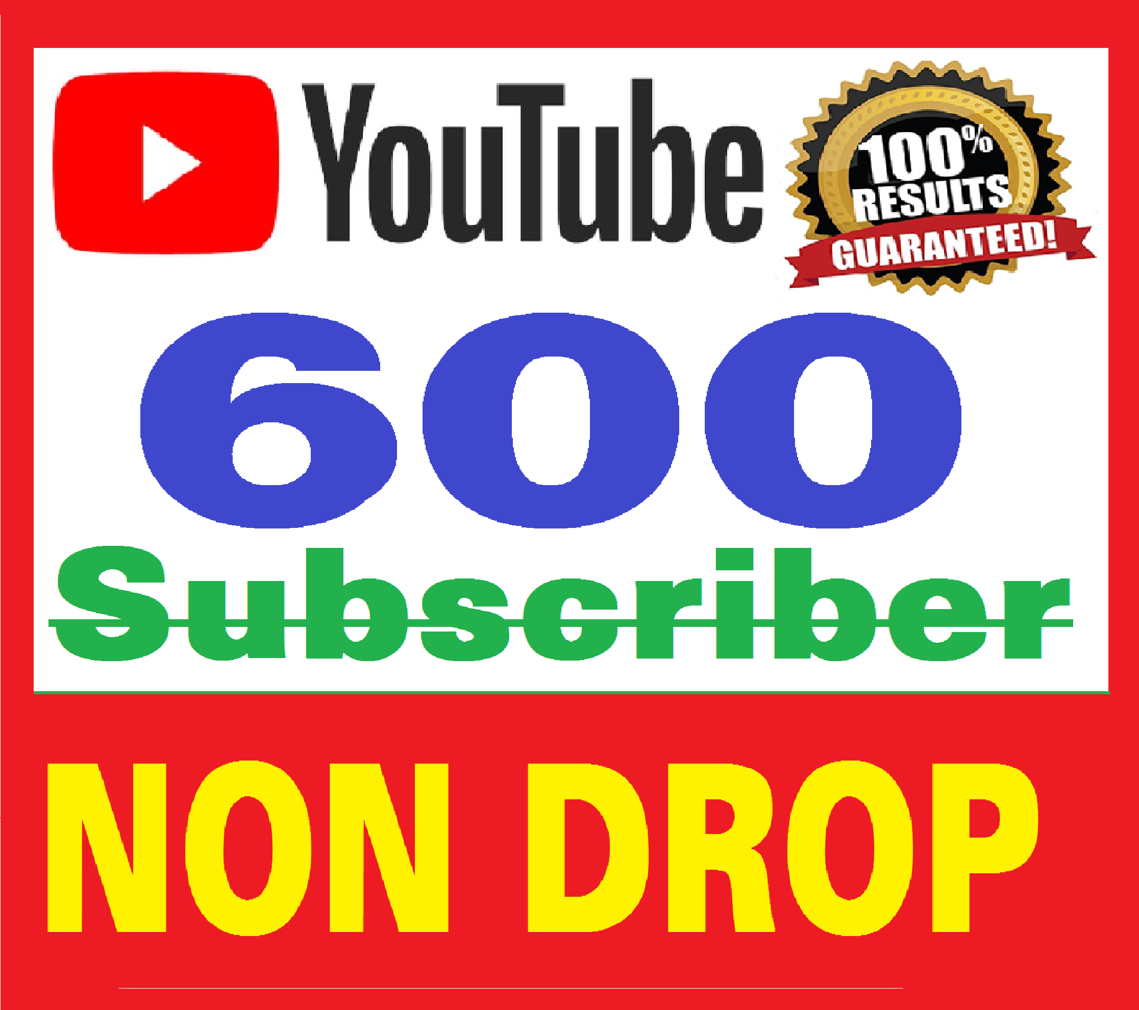 500+ Real Youtube Subscribers Safe & NON DROP + bonus 200 likes