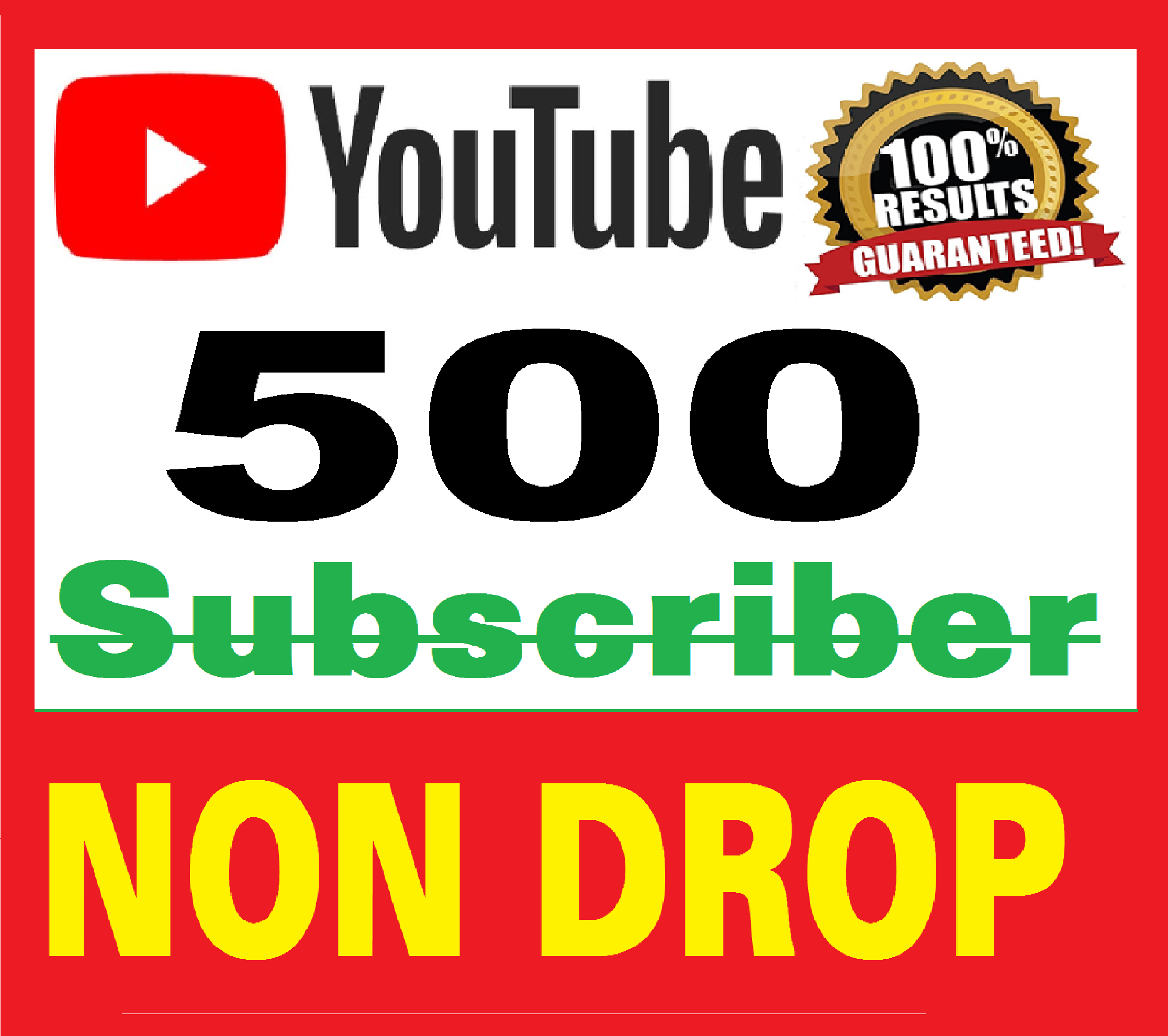500+ Real Youtube Subscribers Safe & NON DROP bonus 100 Likes