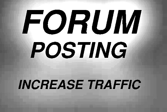 Submit 40 Forum Posting Backlinks On Any Forum