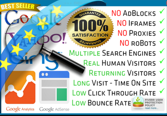 GET Real 40,000-45,000+ traffic from Search Engines and Social Media