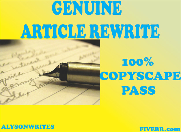 Manually Do Article Rewriting