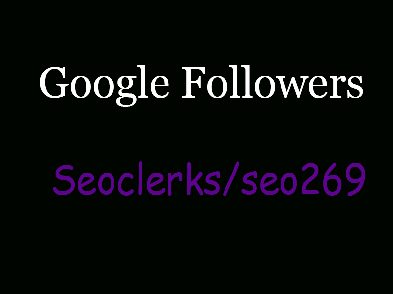 Manually Give you 100+ Google plus Followers & Rank Your Profile