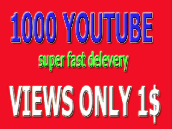 Super fast HQ 1,000+ YouTube vevo Vi-ews