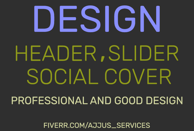 design professional website header or banners,  Slider