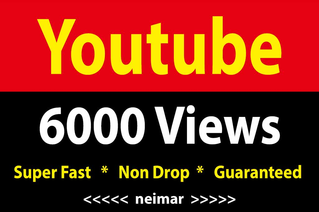 6000 High Quality Vie ws fully safe Instant Start