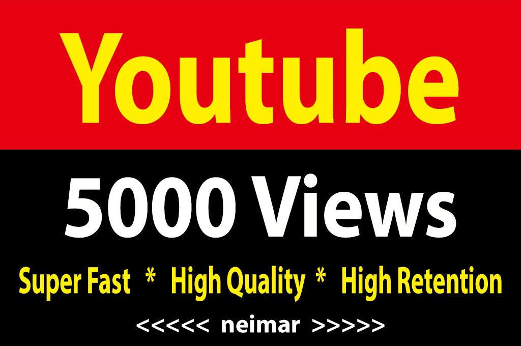 instant 5000 Youtube Vieews Fully Safe Lifetime Guarantee