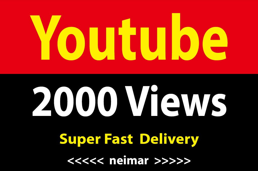 instant 2000 Vieews Lifetime Non Drop Guarantee Super Fast Delivery