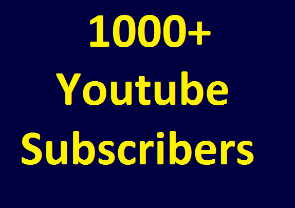 Special Offer 1000+ YouTube Real Chanel subscribers non drop guaranteed very short time completed