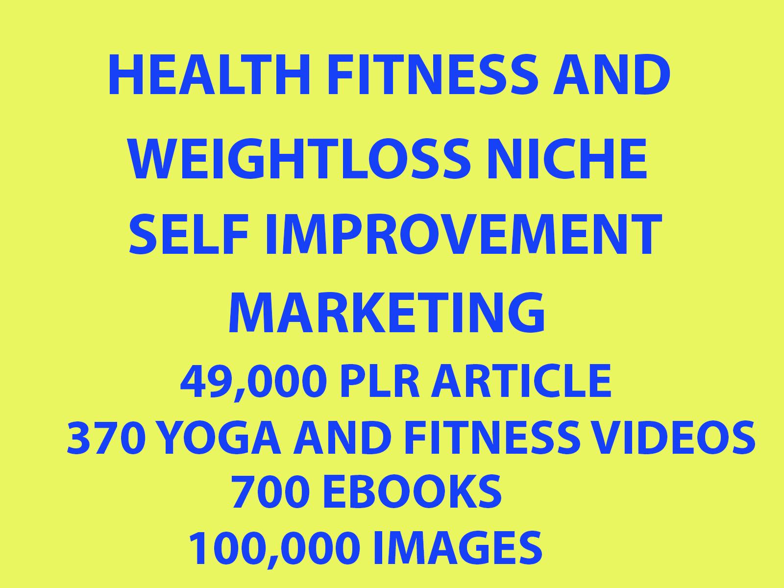 49 000 Plr Articles,700 Ebooks 100k Images,370 Videos On Health Fitnes