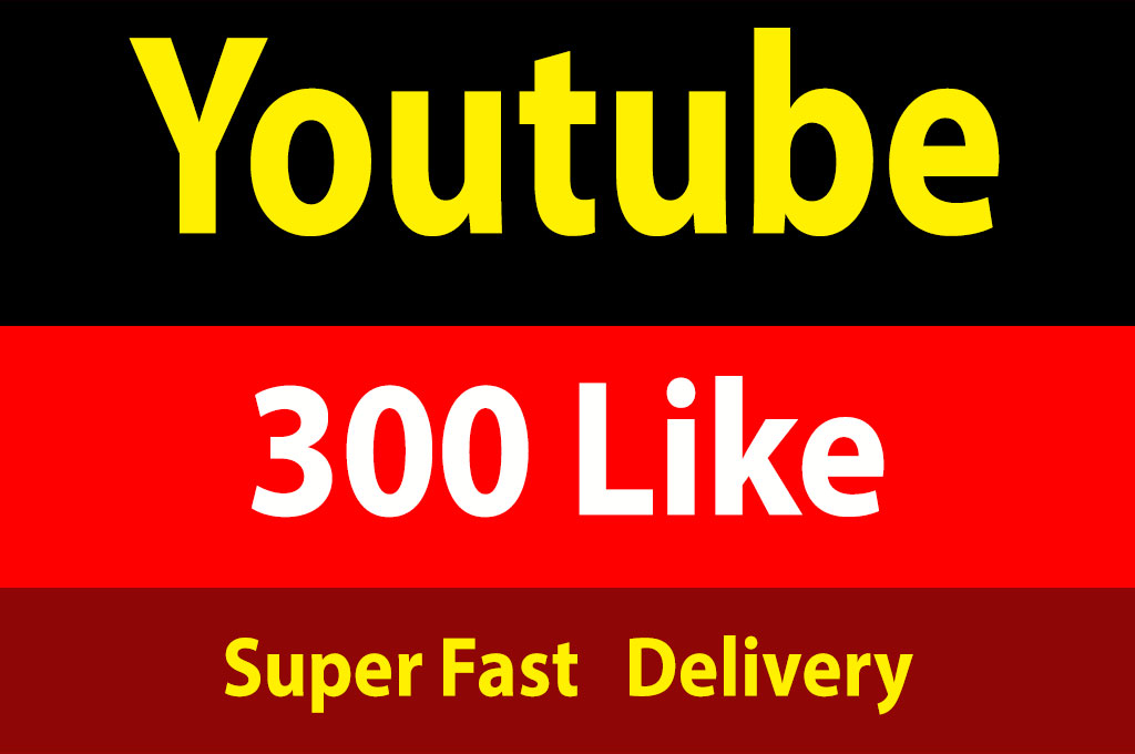Instant 300+ YouTube Li/ke Fully Safe 1 Hours Delivery